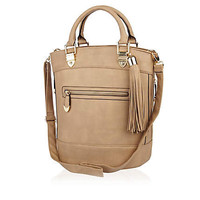 Brown tassel bucket bag  - shopper / tote bags - bags / purses - women
