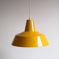 Louis Poulsen &#x27;Arbejdspendel&#x27; style Industrial Enamel Pendant Lamp