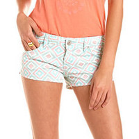 Almost Famous Diamond Print Short: Charlotte Russe