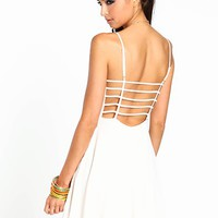 Ivory Lattice Dress