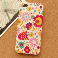 Cartoon Floral Flowers Fabric Phone Case