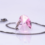 Pink Heart Necklace Pendant Swarovski Heart Summer Jewelry Everyday Necklace Romantic Jewelry For Her