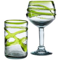 Green Swirl Drinkware