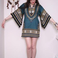 Ethnic indian Angel wing bohemian Tunic dress S from auroravintage