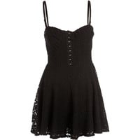 Crafted Lace Skater Dress
