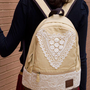 CUTE CANVAS BACKPACK WITH TRIANGLE LACE 4