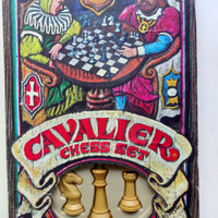 Vintage Cavalier Plastic Chess Set 1973