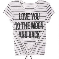 Love You to the Moon and Back Tie Front Tee