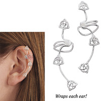 Sterling Triple Celtic Knot Ear Cuffs              - New Age, Spiritual Gifts, Yoga, Wicca, Gothic, Reiki, Celtic, Crystal, Tarot at Pyramid Collection