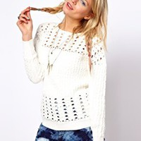 ASOS Premium Crochet Jumper at asos.com