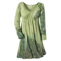 Green Paisley Dress                                - New Age, Spiritual Gifts, Yoga, Wicca, Gothic, Reiki, Celtic, Crystal, Tarot at Pyramid Collection