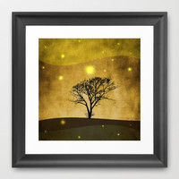 Lone tree II Framed Art Print by Viviana Gonzlez