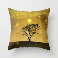 Lone tree II Throw Pillow by Viviana Gonzlez