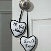 Just Married/Do Not Disturb Door Hanger