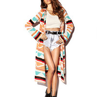 Southwestern Maxi Cardigan