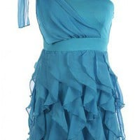 The Blue Ruffle Dress