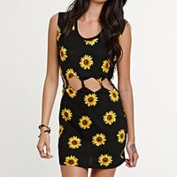 Kendall &amp; Kylie Twisted Sunflower Cutout Dress at PacSun.com