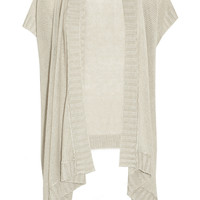 Donna Karan | Draped open-knit linen cardigan | NET-A-PORTER.COM