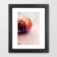 curve Framed Art Print by Claudia Drossert