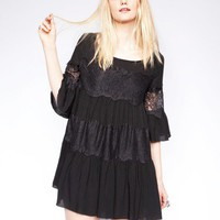 Lace bell sleeve dress