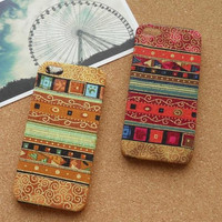 Vintage Tribal Stripe Pattern Fabric Phone Case by Wutheringseven