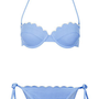 Cornflower Scallop Bikini Top and Pants - Swimwear  - Clothing  - Topshop USA