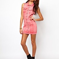 Motel Amelia Denim Dress at asos.com