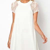 Elegant Lace Chiffon Dress