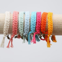 Friendship Bracelet Arm Candy - Spring/Summer Arm Candy in Pastel Colours - Pastel Arm Candy - 1 bracelet