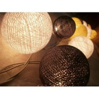 Amazon.com: I Love Handicraft Ivory Color Tone Cotton Ball String Lights Patio Wedding and Party Decoration (20 Balls/set): Everything Else