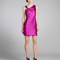 Aidan Mattox grape beaded silk cutout straps cocktail dress | BLUEFLY up to 70 off designer brands
