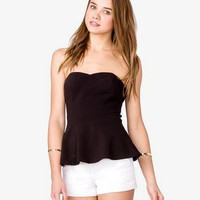 Strapless Peplum Top | FOREVER 21 - 2024690957