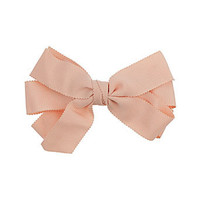 Peach layered ribbon hair clip