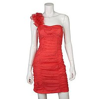 Byline- -Junior&#x27;s One-Shoulder Party Dress-Clothing-Juniors-Dresses