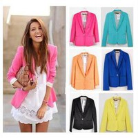 Fashionwoman   #3212 Candy Color Cultivate one&#x27;s morality  Suit