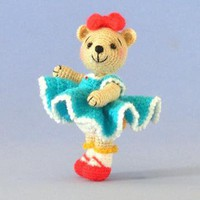 Crochet Pattern Miniature Dressed Bear Doll by BluebearyTreasures