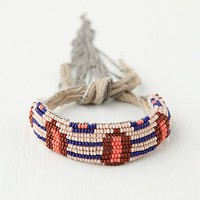 Free People Summer Beaded Fringe Bracelet