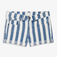 Striped Denim Shorts | FOREVER21 girls - 2026224394