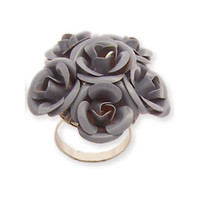 Bouquet Ring Grey