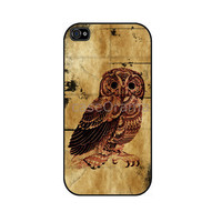 Vintage Owl iPhone 4 hard case iPhone 4 case iPhone by caseOrama