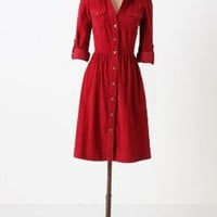 Refined Cord Shirtdress
