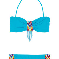 Mara Hoffman Beaded bandeau bikini  63% at THE OUTNET.COM