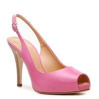 Shop  Giuseppe Zanotti Leather Slingback Pump Larger View