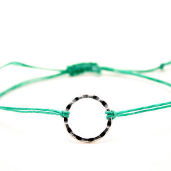Light Green Karma Ring bracelet on Etsy