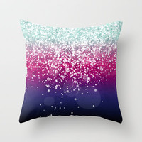 New Colors XV Throw Pillow by Rain Carnival
