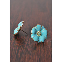 Forget Me Not Earrings in Turquoise