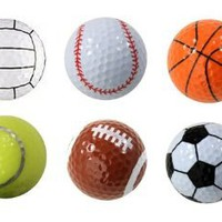 Amazon.com: Assorted Designed Golf Balls (Soccer, Basketball, Football, Tennis, Baseball, Volleyball) - 6 balls in a box: Sports & Outdoors