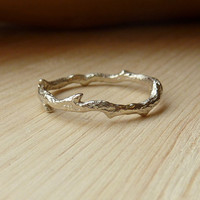 14k Gold Branch Ring