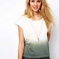 Glamorous Slouchy T-Shirt in Dip Dye at asos.com