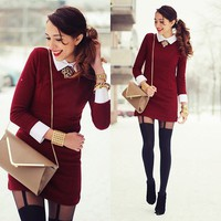 Preppy Burgundy Look